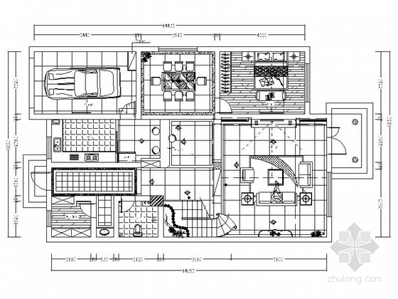 [沧州]精品豪宅欧式豪华三层别墅样板间CAD装修施工图(含高清效果图)