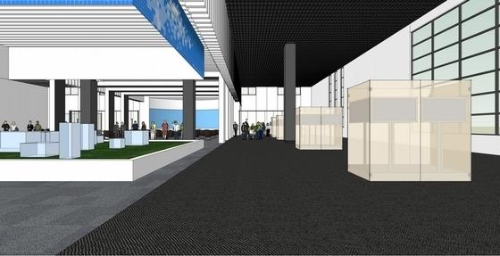 [天津]科技产业技术研究中心现代展厅设计方案项目展示区效果图