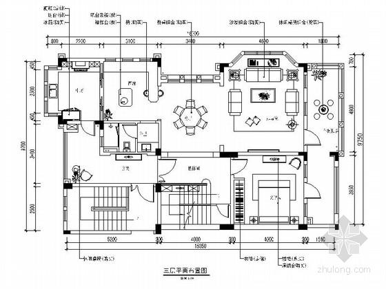 [湖南]豪华法式三层别墅样板房装修施工图(含软装方案及效果图 推荐!)