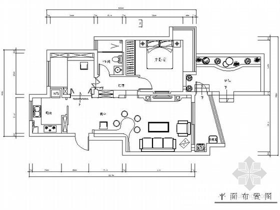 [江苏]常熟现代简约风格一居室装修CAD施工图(含实景图)