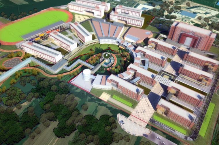 [河南]某市清华园完全中学建筑方案设计文本(包含PDF+96页)