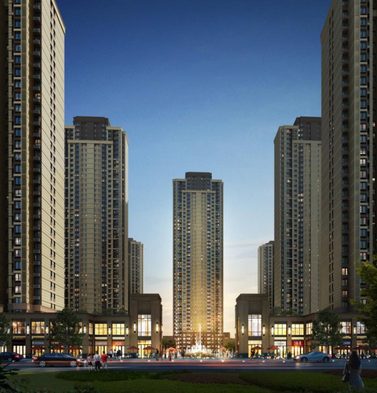 [武汉]保利高层住宅及超高层办公楼建筑方案文本(两套方案)_7
