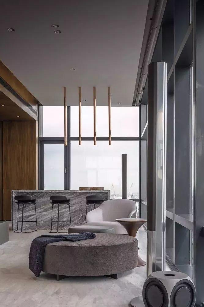 室内设计 130㎡的单身公寓,设计感十足_13