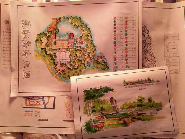 2014-11-14-190112-延安市西北川公园设计,红飘带广场第1张图片