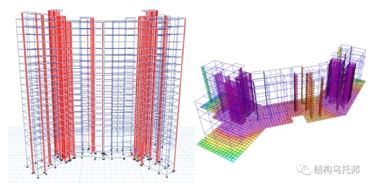 [有限元]基于整体分析的高层建筑筏板设计