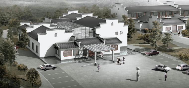 7套徽派建筑设计CAD图