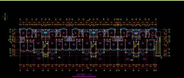 V型滤池平面图剖面图资料下载-别墅E型施工图