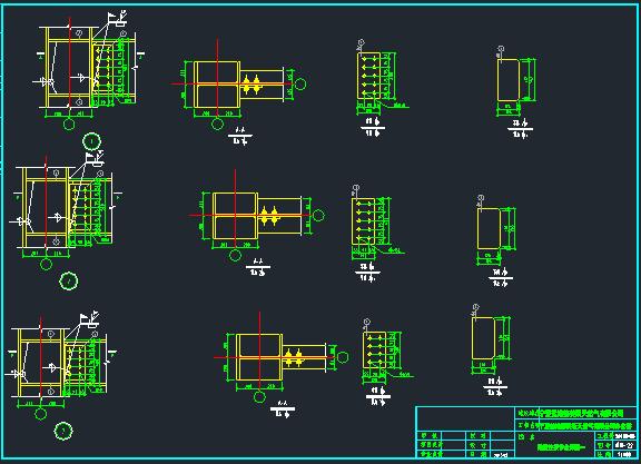 10层扇形办公室钢框架建筑结构施工图_11