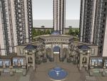欧式风格精美高层住宅小区规划SU精模型