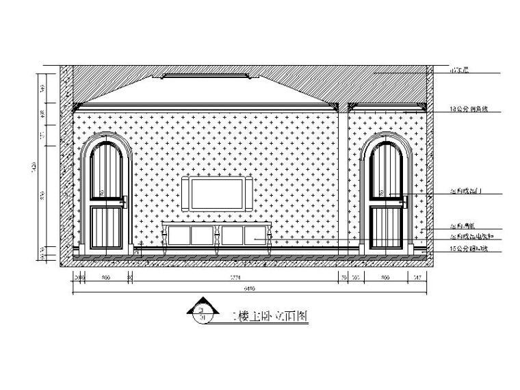 [江苏]500平美式古典别墅设计CAD施工图(含效果图)-【江苏】500平美式古典别墅设计CAD施工图(含效果图)缩略图