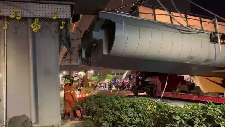 杭州被撞塌的天桥——剩余结构安全,原设计和施工