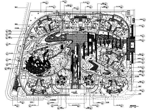 [广州]现代高端豪宅社区景观设计全套施工图(附实景图)