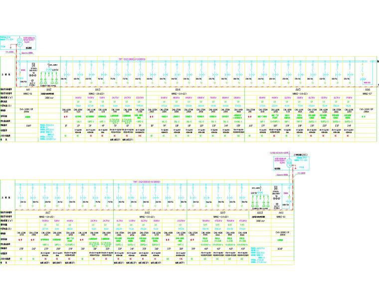 30层商住楼各种系统图(高低压配电系统图、动力照明系统、防雷接地系统)