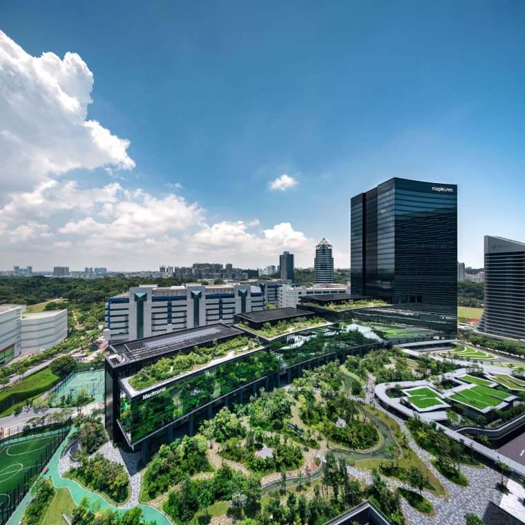 新加坡Comtech商业园区景观-2