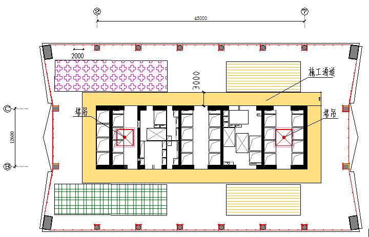 广州超高层商业办公楼施工组织设计(框架-核心筒-支撑结构,附图丰富)_5