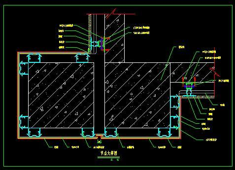 石材变形缝CAD大样图