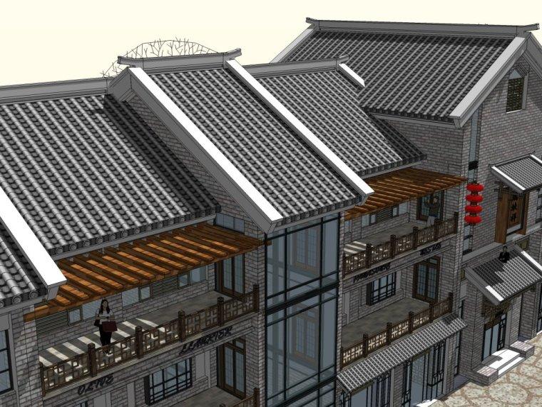 商业街中式风格三层建筑方案设计(SU模型)-20150805_223509_061