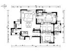【浙江】新作!现代简约风格样板房设计CAD施工图(含实景图)