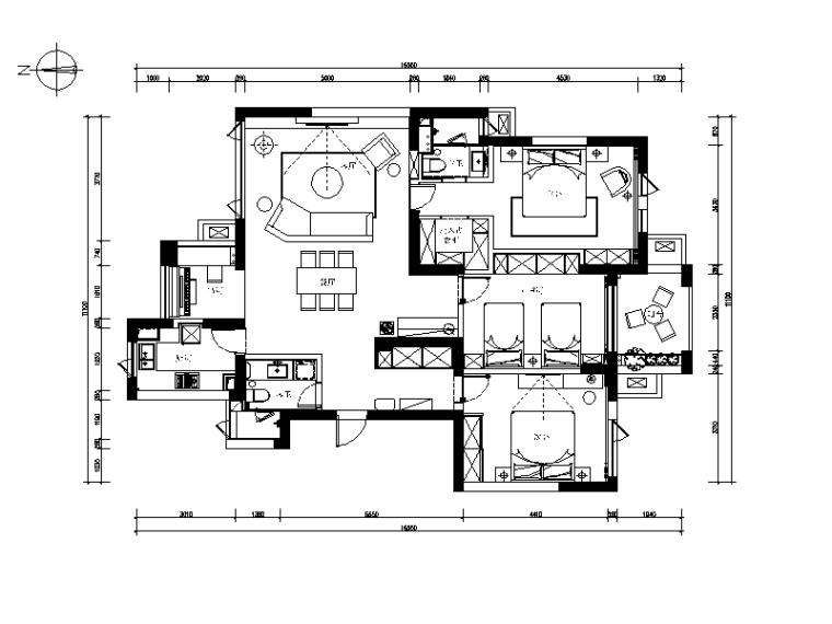 [浙江]新作!现代简约风格样板房设计CAD施工图(含实景图)