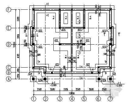 某三层砖混别墅结构图纸