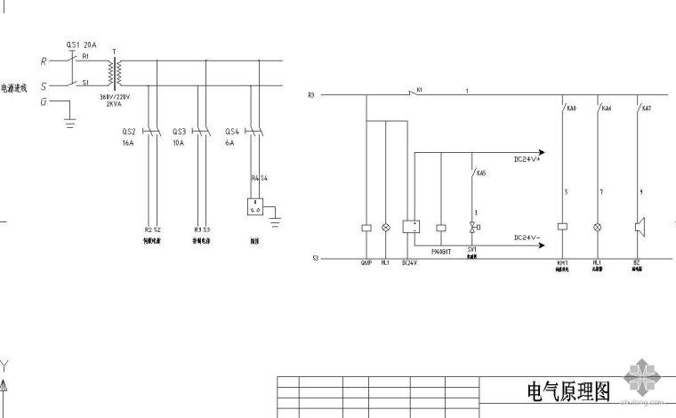 伺服电机电气控制图
