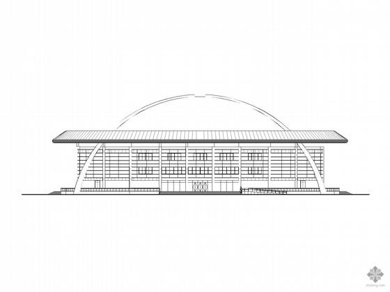 [河南]某市网球综合训练馆建筑、结构施工图