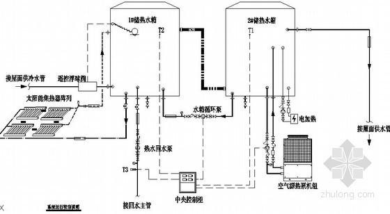 高档住宅楼太阳能联合热泵系统集中供热水施工图(含电气)