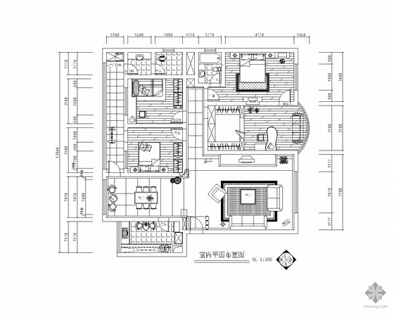 五室三厅装修图