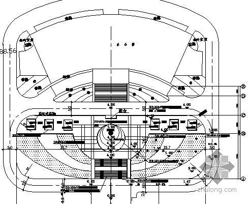 某办公楼前广场景观设计施工图