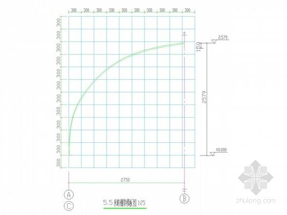 5.5米、10米茶棚钢结构施工图