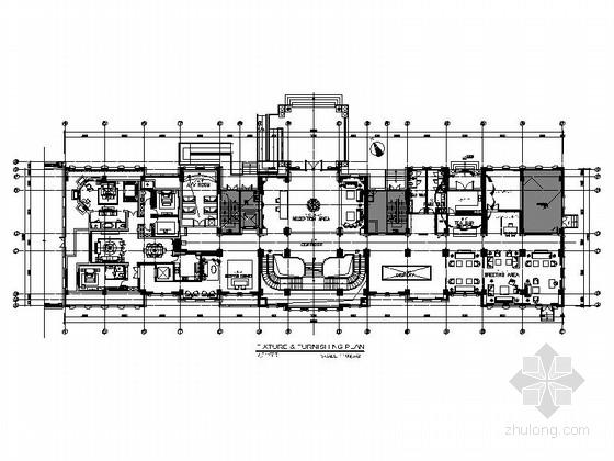 [江苏]新江东核心区豪华欧式风格三层会所室内设计装修施工图