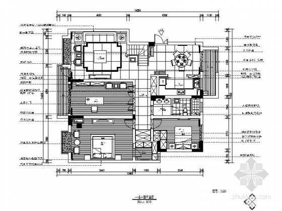 [江苏]儒雅中式风格两层小别墅室内装修施工图(含实景图)