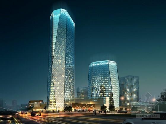 夜景商业大厦3D模型下载