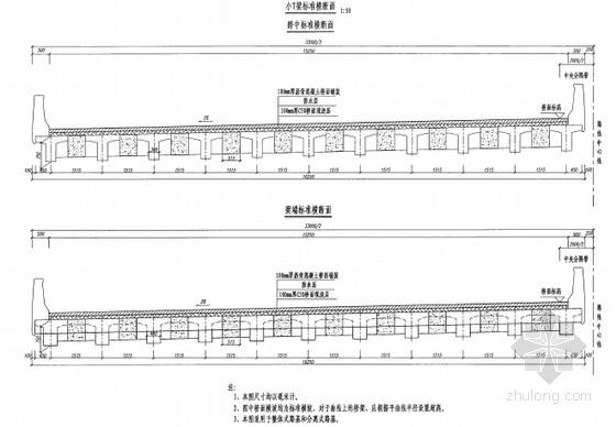 [浙江]13m、16m装配式预应力简支矮T梁通用设计图150张(斜交0°10°20°30°)