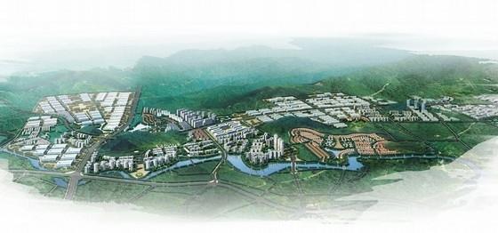 现代风格城市片区规划设计方案效果图