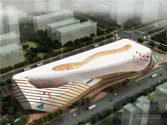 [北京]现代风格商业MALL设计方案文本(2个方案 知名设计院)