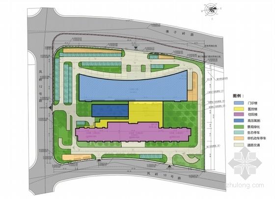 [广西]红砖立面高层儿童医院建筑设计方案文本-红砖立面高层儿童医院分析图