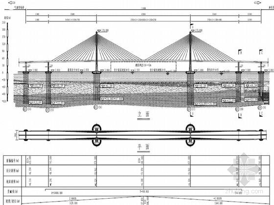 跨海大桥辅助墩及过渡墩设计图71页(钢管复合桩)
