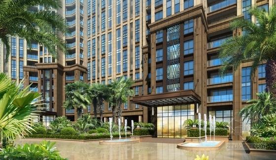 [深圳]新加坡花园式高尚住区设计方案文本-新加坡花园式高尚住区效果图