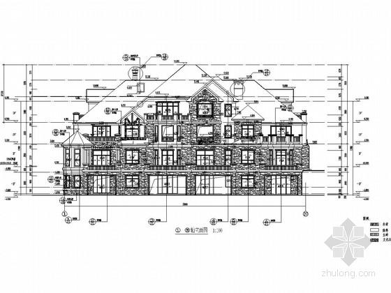 [重庆]三层异形柱框架结构北美风情联排别墅结构施工图(含建筑图)