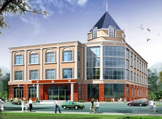 [山东]欧式综合办公楼建筑安装工程预算书(图纸 施工合同)