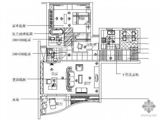 三室二厅二卫方案图