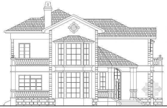 某二层欧式别墅建筑方案(Y3户型)