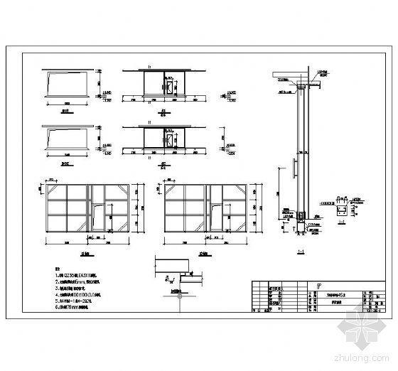 工业彩板推拉大门施工图