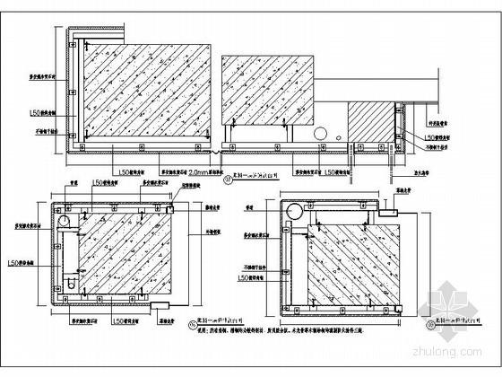 石材包柱剖面图