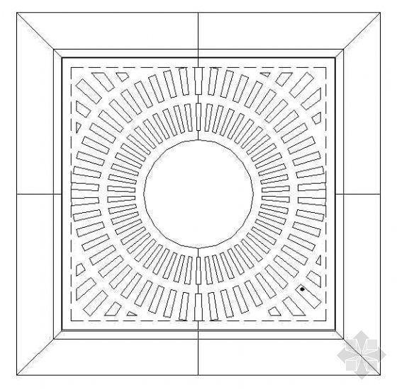 铸铁盖板树穴详图(1)