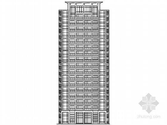 [广东]某住宅区十八层塔式住宅建筑施工图(21号楼)