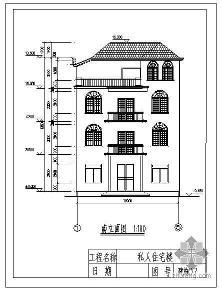 某框架私人别墅结构图