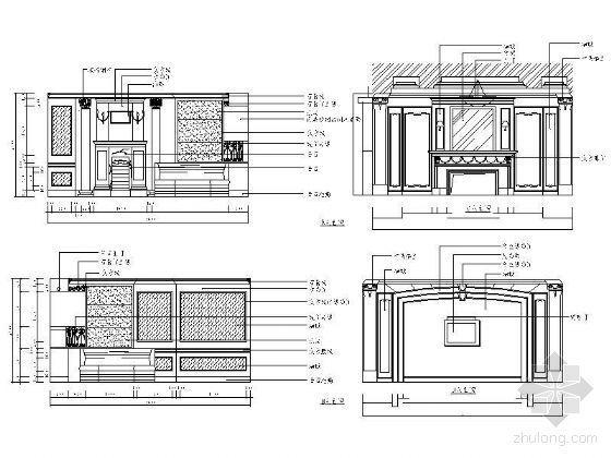 西式包房立面设计图