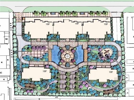 [河北]豪华安静住宅小区景观设计方案